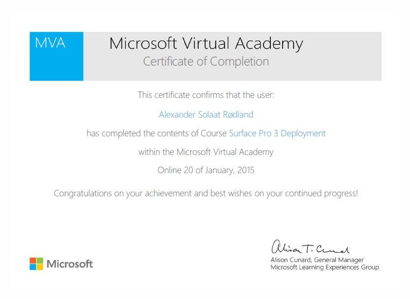 MVA Diploma